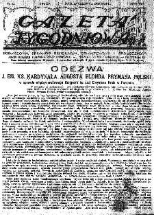 Gazeta Tygodniowa. Poświęcona sprawom religijnym, oświatowym i społecznym,1937, R.8, nr 24