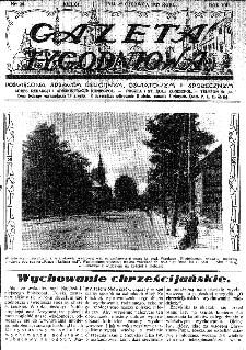 Gazeta Tygodniowa. Poświęcona sprawom religijnym, oświatowym i społecznym,1937, R.8, nr 26