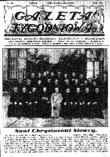 Gazeta Tygodniowa. Poświęcona sprawom religijnym, oświatowym i społecznym,1937, R.8, nr 29