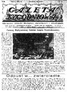 Gazeta Tygodniowa. Poświęcona sprawom religijnym, oświatowym i społecznym,1937, R.8, nr 39