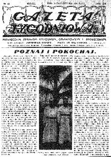 Gazeta Tygodniowa. Poświęcona sprawom religijnym, oświatowym i społecznym,1937, R.8, nr 43