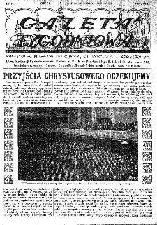 Gazeta Tygodniowa. Poświęcona sprawom religijnym, oświatowym i społecznym,1937, R.8, nr 48