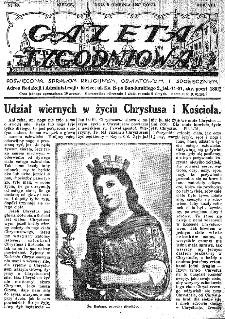 Gazeta Tygodniowa. Poświęcona sprawom religijnym, oświatowym i społecznym,1937, R.8, nr 49