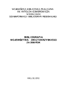 Bibliografia regionalna 2006
