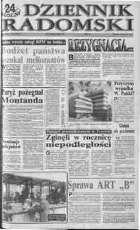 Dziennik Radomski : 24 godziny, 1992, R.2, nr 109