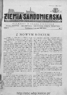 Ziemia Sandomierska. Czasopismo samorządowo-społeczne: tygodnik, 1933, nr 1