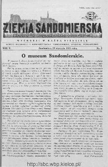 Ziemia Sandomierska. Czasopismo samorządowo-społeczne: tygodnik, 1933, nr 5