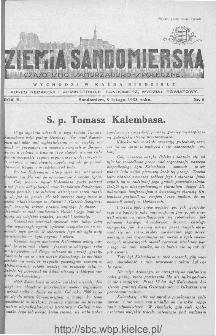 Ziemia Sandomierska. Czasopismo samorządowo-społeczne: tygodnik, 1933, nr 6