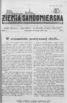 Ziemia Sandomierska. Czasopismo samorządowo-społeczne: tygodnik, 1933, nr 8
