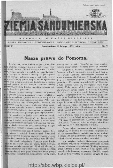 Ziemia Sandomierska. Czasopismo samorządowo-społeczne: tygodnik, 1933, nr 9