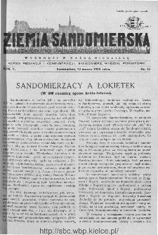 Ziemia Sandomierska. Czasopismo samorządowo-społeczne: tygodnik, 1933, nr 11