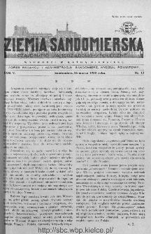 Ziemia Sandomierska. Czasopismo samorządowo-społeczne: tygodnik, 1933, nr 13