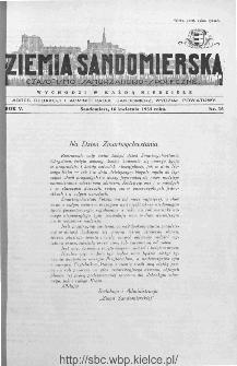 Ziemia Sandomierska. Czasopismo samorządowo-społeczne: tygodnik, 1933, nr 16