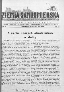 Ziemia Sandomierska. Czasopismo samorządowo-społeczne: tygodnik, 1933, nr 18