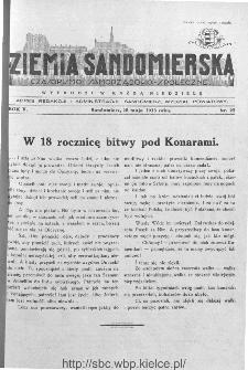 Ziemia Sandomierska. Czasopismo samorządowo-społeczne: tygodnik, 1933, nr 22