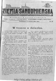 Ziemia Sandomierska. Czasopismo samorządowo-społeczne: tygodnik, 1933, nr 33