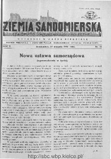 Ziemia Sandomierska. Czasopismo samorządowo-społeczne: tygodnik, 1933, nr 35