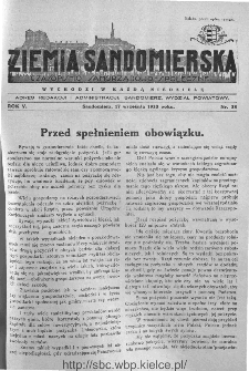 Ziemia Sandomierska. Czasopismo samorządowo-społeczne: tygodnik, 1933, nr 38