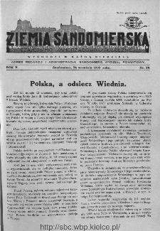 Ziemia Sandomierska. Czasopismo samorządowo-społeczne: tygodnik, 1933, nr 39
