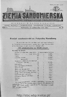 Ziemia Sandomierska. Czasopismo samorządowo-społeczne: tygodnik, 1933, nr 42