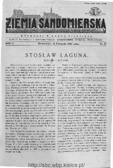 Ziemia Sandomierska. Czasopismo samorządowo-społeczne: tygodnik, 1933, nr 47