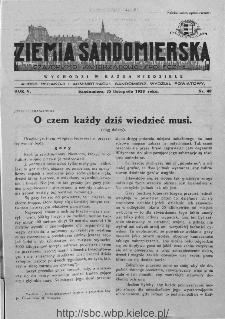 Ziemia Sandomierska. Czasopismo samorządowo-społeczne: tygodnik, 1933, nr 48