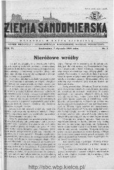 Ziemia Sandomierska. Czasopismo samorządowo-społeczne: tygodnik, 1934, nr 2