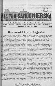 Ziemia Sandomierska. Czasopismo samorządowo-społeczne: tygodnik, 1934, nr 8