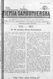 Ziemia Sandomierska. Czasopismo samorządowo-społeczne: tygodnik, 1934, nr 29