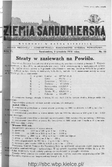 Ziemia Sandomierska. Czasopismo samorządowo-społeczne: tygodnik, 1934, nr 35