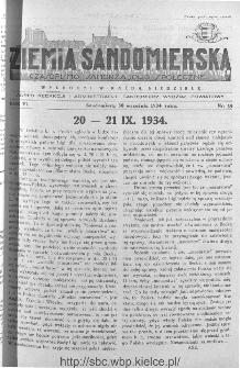 Ziemia Sandomierska. Czasopismo samorządowo-społeczne: tygodnik, 1934, nr 39