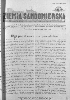 Ziemia Sandomierska. Czasopismo samorządowo-społeczne: tygodnik, 1934, nr 41