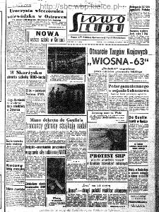 Słowo Ludu : organ Komitetu Wojewódzkiego Polskiej Zjednoczonej Partii Robotniczej, 1963, R.15, nr 77