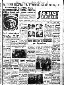 Słowo Ludu : organ Komitetu Wojewódzkiego Polskiej Zjednoczonej Partii Robotniczej, 1963, R.15, nr 169