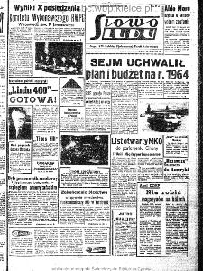 Słowo Ludu : organ Komitetu Wojewódzkiego Polskiej Zjednoczonej Partii Robotniczej, 1963, R.15, nr 357