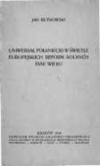 Uniwersał Połaniecki w świetle europejskich reform rolnych XVIII wieku