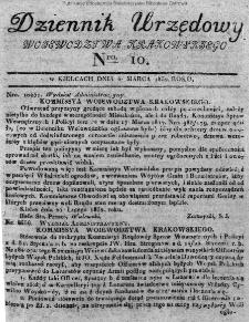 Dziennik Urzędowy Województwa Krakowskiego 1832, nr 10
