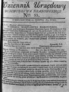 Dziennik Urzędowy Województwa Krakowskiego 1832, nr 33