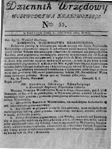 Dziennik Urzędowy Województwa Krakowskiego 1832, nr 53