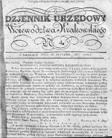 Dziennik Rządowy Województwa Krakowskiego 1834, nr 4