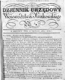 Dziennik Rządowy Województwa Krakowskiego 1834, nr 5