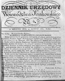 Dziennik Rządowy Województwa Krakowskiego 1834, nr 6