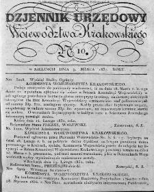 Dziennik Rządowy Województwa Krakowskiego 1834, nr 10