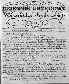 Dziennik Rządowy Województwa Krakowskiego 1834, nr 11