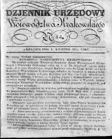 Dziennik Rządowy Województwa Krakowskiego 1834, nr 14