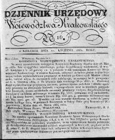 Dziennik Rządowy Województwa Krakowskiego 1834, nr 16