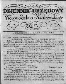 Dziennik Rządowy Województwa Krakowskiego 1834, nr 17