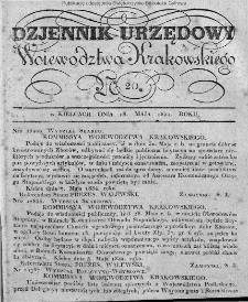 Dziennik Rządowy Województwa Krakowskiego 1834, nr 20