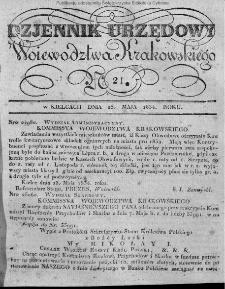 Dziennik Rządowy Województwa Krakowskiego 1834, nr 21