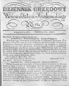 Dziennik Rządowy Województwa Krakowskiego 1834, nr 22